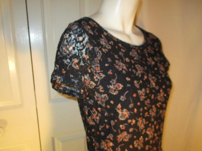 Lauren Jeans Company short dress black multi Lace Stretchy Floral Ruffled Onm001 on Tradesy Image 6