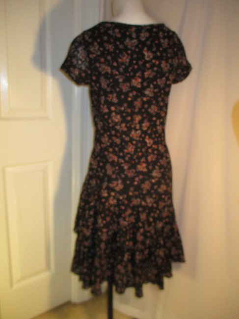 Lauren Jeans Company short dress black multi Lace Stretchy Floral Ruffled Onm001 on Tradesy Image 7