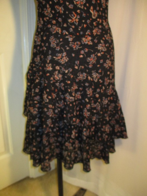 Lauren Jeans Company short dress black multi Lace Stretchy Floral Ruffled Onm001 on Tradesy Image 8