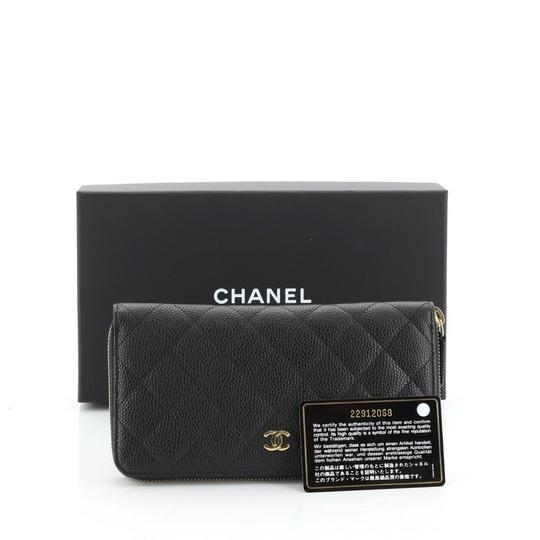 Chanel Wallet Leather Wristlet in black Image 1