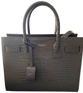 Saint Laurent Crocodile Ysl Luxury Lock Office Cross Body Bag