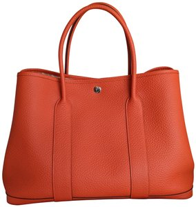 Hermes Limited Edition Leather Quadrige Tote in Orange