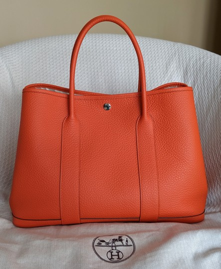 Hermes Limited Edition Leather Quadrige Tote in Orange Image 1