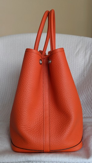 Hermes Limited Edition Leather Quadrige Tote in Orange Image 2
