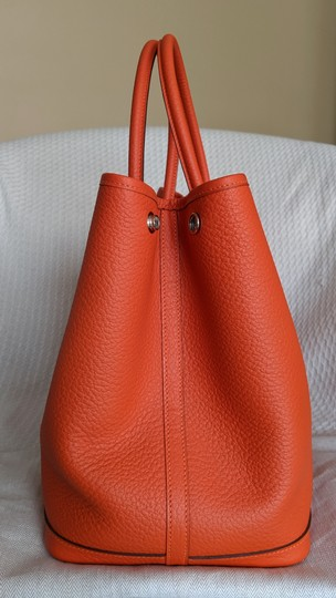 Hermes Limited Edition Leather Quadrige Tote in Orange Image 3
