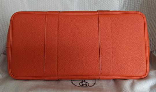 Hermes Limited Edition Leather Quadrige Tote in Orange Image 4