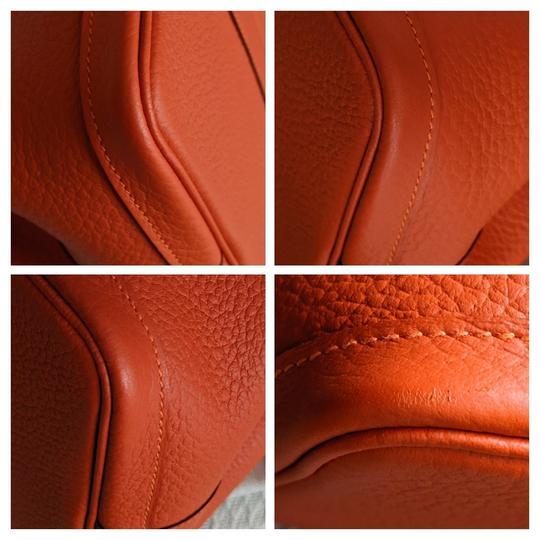 Hermes Limited Edition Leather Quadrige Tote in Orange Image 5