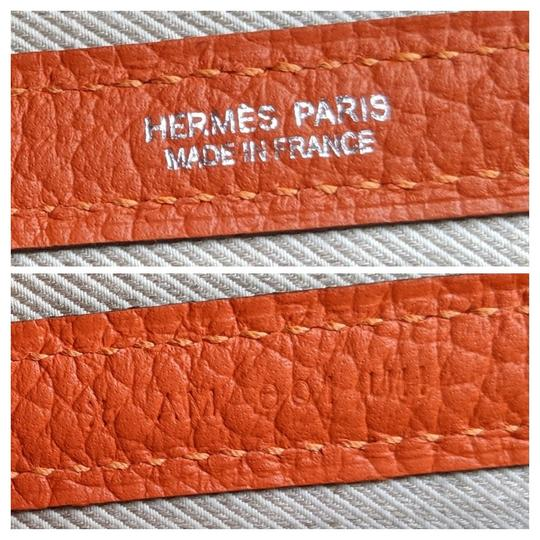Hermes Limited Edition Leather Quadrige Tote in Orange Image 7