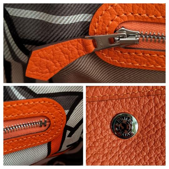 Hermes Limited Edition Leather Quadrige Tote in Orange Image 8