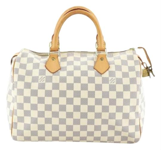 Preload https://img-static.tradesy.com/item/26667875/louis-vuitton-speedy-handbag-damier-30-white-coated-canvas-satchel-0-1-540-540.jpg