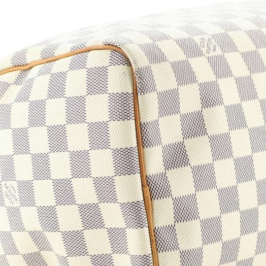 Louis Vuitton Speedy Canvas Satchel in White Image 8