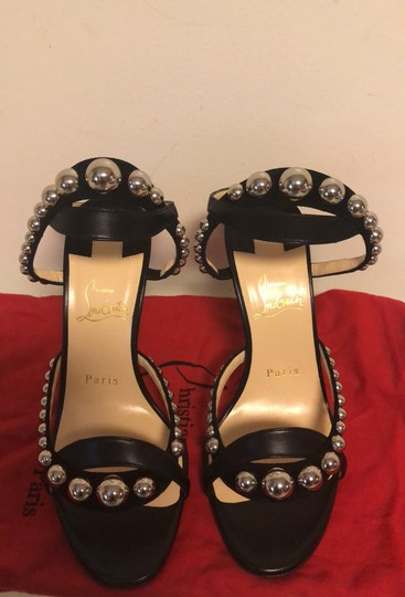 Christian Louboutin black with silver studs Pumps Image 2