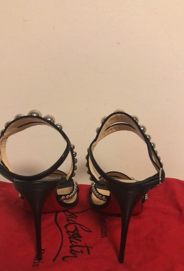 Christian Louboutin black with silver studs Pumps Image 3