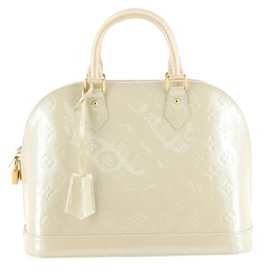Louis Vuitton Alma Leather Satchel in neutral