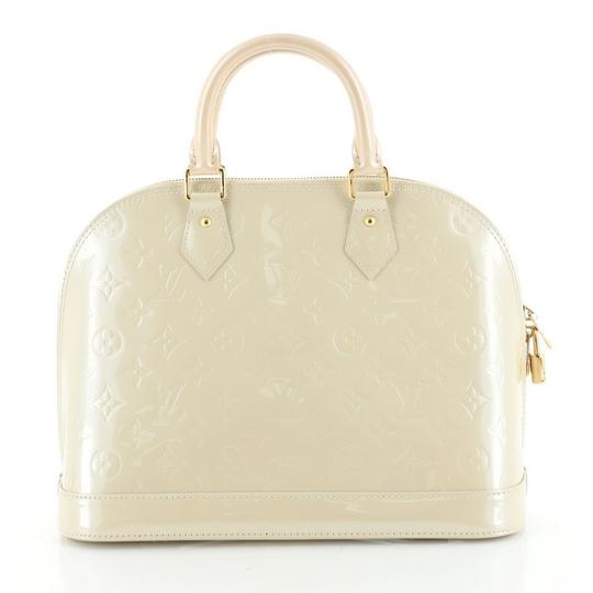 Louis Vuitton Alma Leather Satchel in neutral Image 2