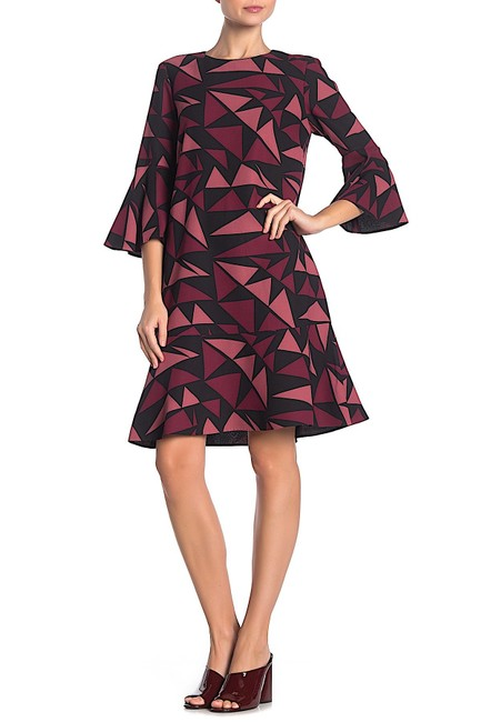 Preload https://img-static.tradesy.com/item/26667902/lafayette-148-new-york-multi-with-tag-billie-geo-print-bell-sleeve-mid-length-night-out-dress-size-1-0-0-650-650.jpg