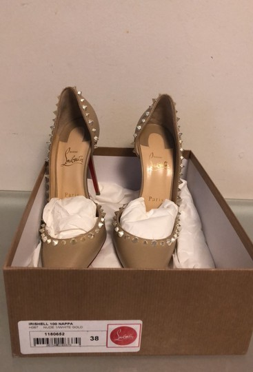 Christian Louboutin nude with gold Pumps Image 4