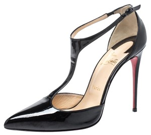 Christian Louboutin Patent Leather Leather Black Pumps