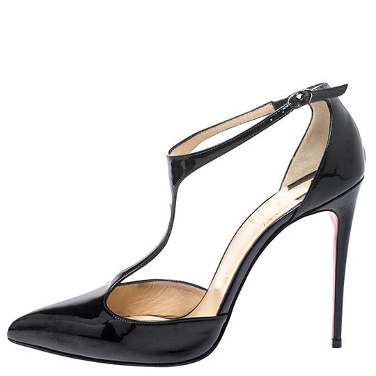 Christian Louboutin Patent Leather Leather Black Pumps Image 4