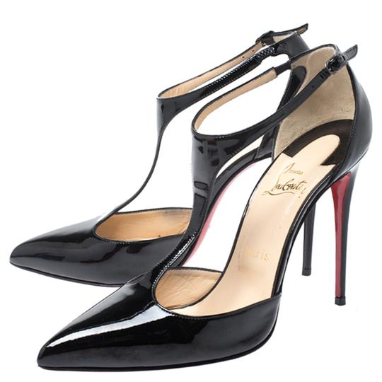 Christian Louboutin Patent Leather Leather Black Pumps Image 6