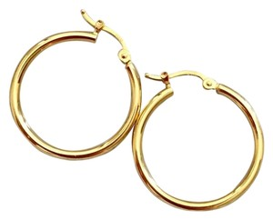 Other Real Saudi Gold 18K Hoop Earrings