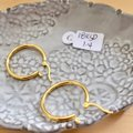 Other Real Saudi Gold 18K Hoop Earrings Image 1