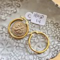 Other Real Saudi Gold 18K Hoop Earrings Image 2