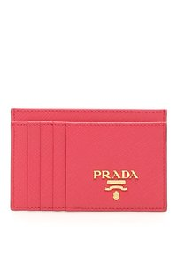 Prada HOT PINK Multi-Slot Card Holder in Saffiano leather