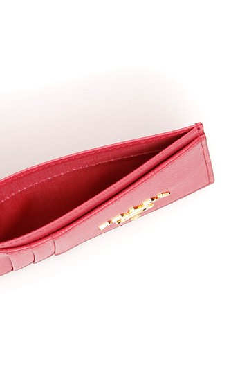 Prada HOT PINK Multi-Slot Card Holder in Saffiano leather Image 1