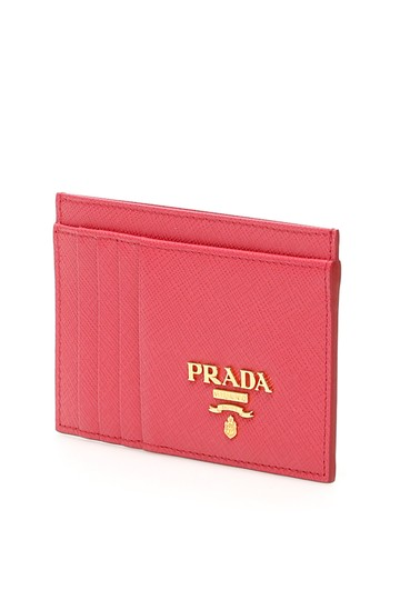 Prada HOT PINK Multi-Slot Card Holder in Saffiano leather Image 2