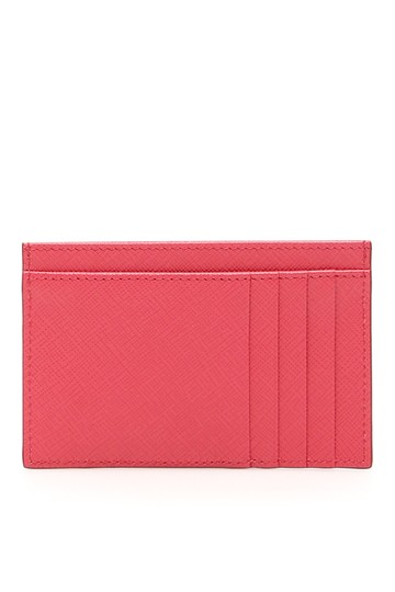 Prada HOT PINK Multi-Slot Card Holder in Saffiano leather Image 3