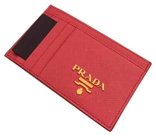 Prada HOT PINK Multi-Slot Card Holder in Saffiano leather Image 4