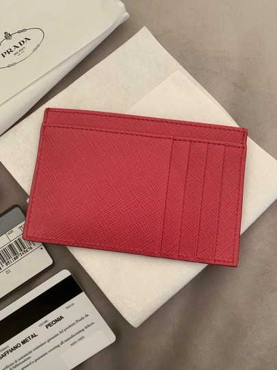 Prada HOT PINK Multi-Slot Card Holder in Saffiano leather Image 6