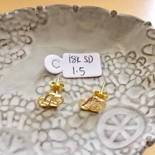 Other Real Saudi Gold 18K INTRICATE Earrings Image 1