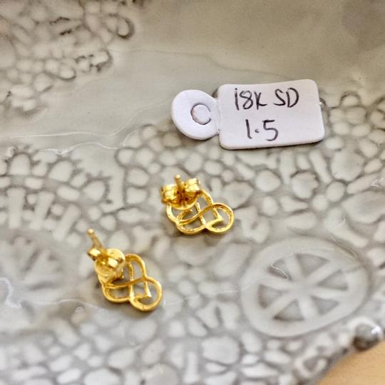 Other Real Saudi Gold 18K INTRICATE Earrings Image 3