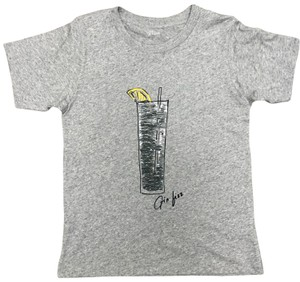 J.Crew Sequin Bling Graphic Happy Hour T Shirt Grey