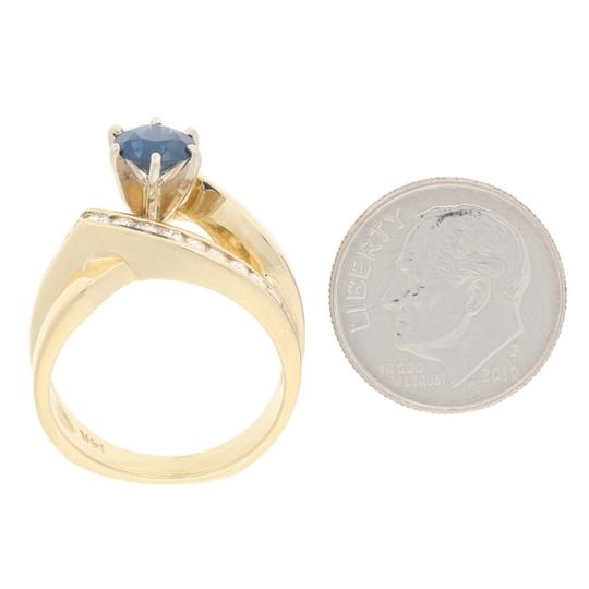 Wilson Brothers Jewelry 1.34ctw Round Cut Sapphire & Diamond Ring - 14k Gold Bypass E7584 Image 5