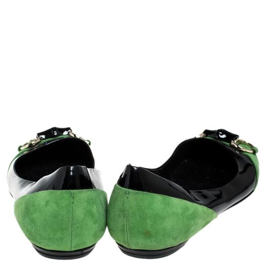 Gucci Patent Leather Suede Black Flats Image 2