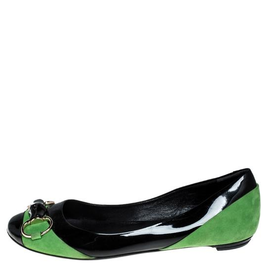 Gucci Patent Leather Suede Black Flats Image 4