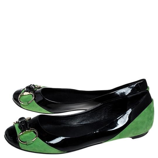 Gucci Patent Leather Suede Black Flats Image 5