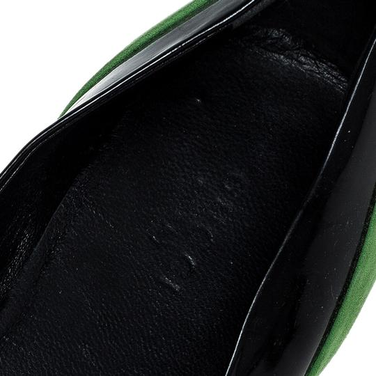 Gucci Patent Leather Suede Black Flats Image 6