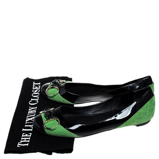Gucci Patent Leather Suede Black Flats Image 7