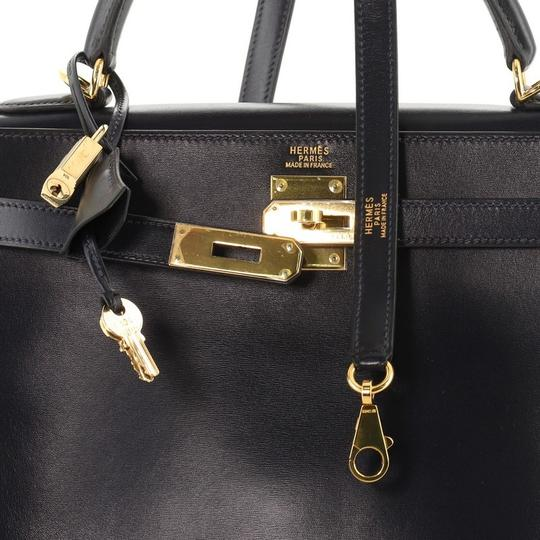 Hermès Handbag Leather Tote in Blue Image 4