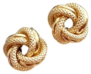 Other Real Saudi Gold 18k Knot Earrings