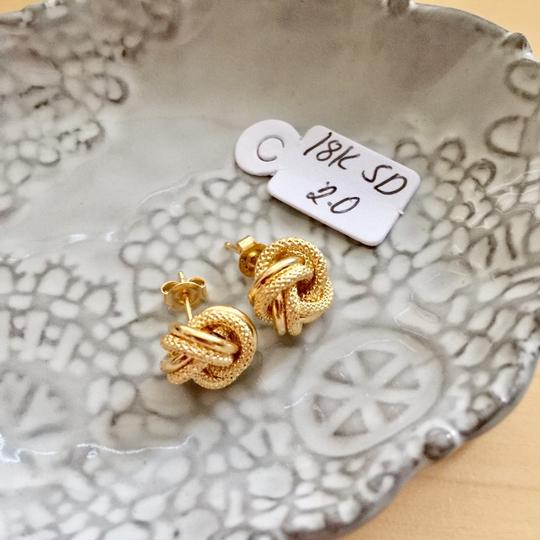 Other Real Saudi Gold 18k Knot Earrings Image 1