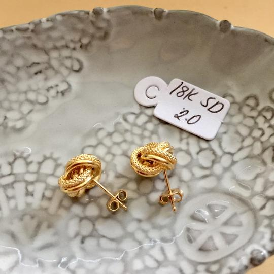 Other Real Saudi Gold 18k Knot Earrings Image 2