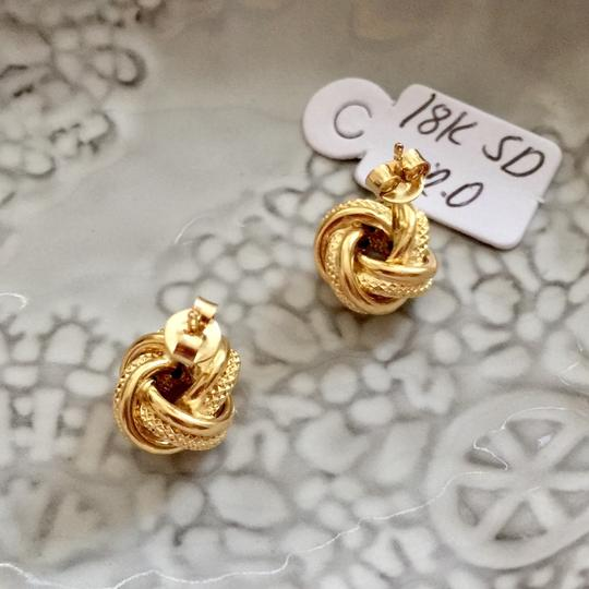 Other Real Saudi Gold 18k Knot Earrings Image 3