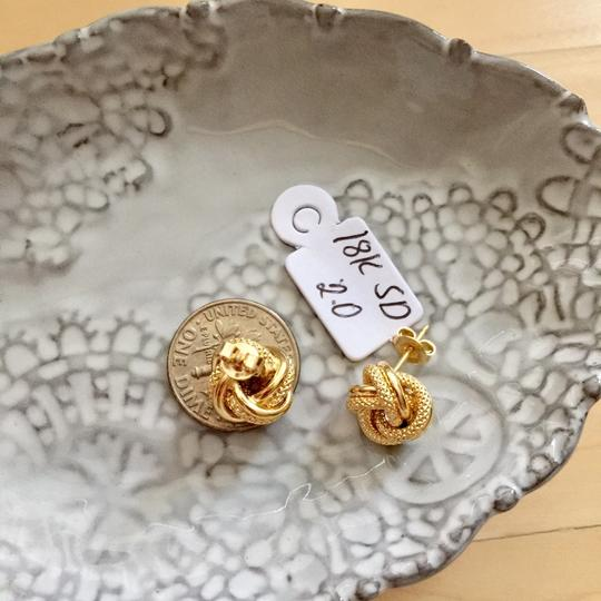 Other Real Saudi Gold 18k Knot Earrings Image 4