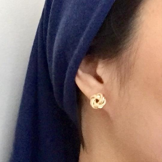 Other Real Saudi Gold 18k Knot Earrings Image 5