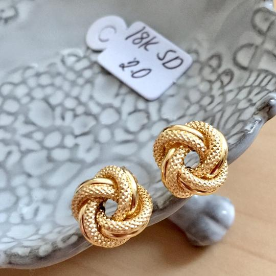 Other Real Saudi Gold 18k Knot Earrings Image 6